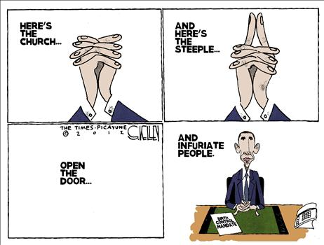 Cartoon_Obama's Church Trick